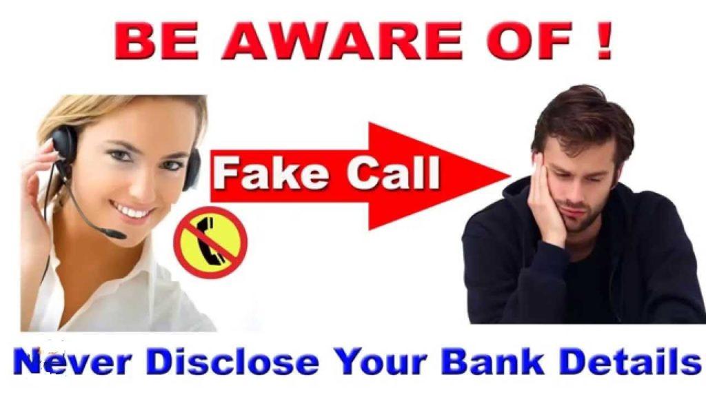 Be Alert from Bank Fake calls